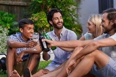 Outdoor garden party stock photo