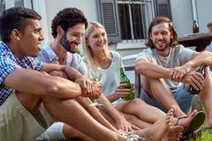Outdoor garden party stock image