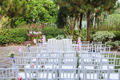 Outdoor garden style wedding