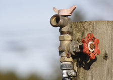 Outdoor Garden Tap With Copy Space Royalty Free Stock Image