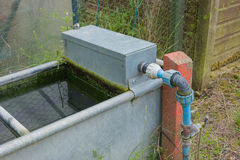 Outdoor garden water trough Stock Photos