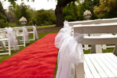 Outdoor garden wedding Stock Images