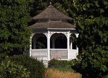 Outdoor Gazebo. White Outdoor Gazebo Royalty Free Stock Image