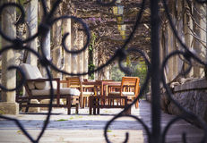 Outdoor gazebo. Royalty Free Stock Photos