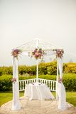Outdoor gazebo used as a wedding alter Royalty Free Stock Image