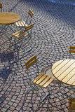 Outdoor German cafe seating Stock Photography