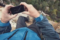 Outdoor gps lifestyle Stock Photos