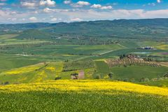 Outdoor Tuscan hills landscape Stock Images