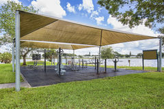 Outdoor Gym Under A Canopy Stock Photography