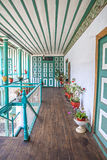 Outdoor hallway of an old house Royalty Free Stock Images
