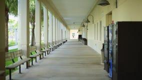 Outdoor Hallway at a School stock video footage