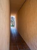 Outdoor hallway Stock Photo