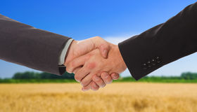 Outdoor handshake Royalty Free Stock Photos