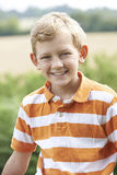 Outdoor Head And Shoulder Portrait Of Boy Royalty Free Stock Photos