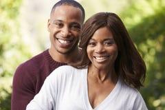 Outdoor Head And Shoulders Portrait Of Romantic Couple Stock Photos