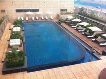 Outdoor Heated Swimming Pool. At Ibis Hotel Aerocity New Delhi, India Stock Photography
