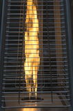 Outdoor heater flame Royalty Free Stock Image