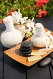 Outdoor Herbal Spa Massage royalty free stock images