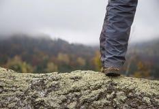 Outdoor hiker leg Stock Photo