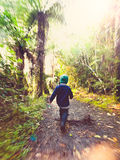 Outdoor Hiking activity. Royalty Free Stock Images