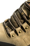 Outdoor hiking shoe details Royalty Free Stock Photos