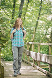 Outdoor Holiday - Walking in a Forest Stock Photo