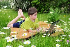 Outdoor homework Stock Image