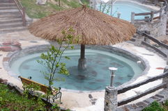 Outdoor hot spring pools Royalty Free Stock Image