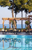 Outdoor hotel restaurant Royalty Free Stock Image