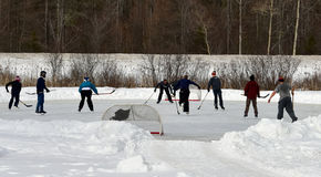Outdoor ice hockey Stock Images