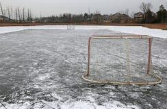 Outdoor Ice Hockey Royalty Free Stock Photos