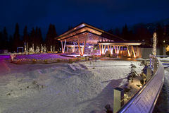 Outdoor Ice Rink. The outdoor ice rink at Whistler in winter Stock Image