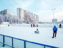 Outdoor Ice Skating Stock Image