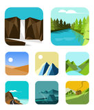 Outdoor icons set Royalty Free Stock Image