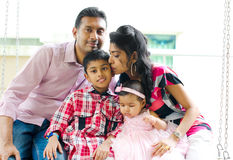 Outdoor Indian family royalty free stock images