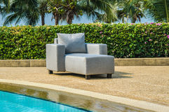 Outdoor indoor lounger chair. From water resistant fabrics Royalty Free Stock Images