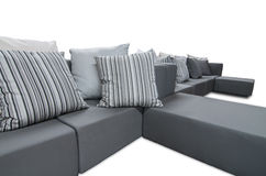 Outdoor indoor sofa with cushions and pillows Royalty Free Stock Photography