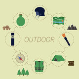 Outdoor infographics. Camping lifestyle. Unusual Stock Photo