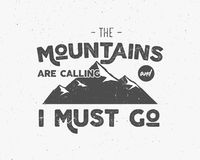 Outdoor inspiration background. Motivation mountain brochure quote template. Winter snowboard sport flyer.. Mountains are calling adventure elements. Vector Stock Images