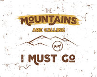 Outdoor inspiration background. Motivation mountain brochure quote template. Winter snowboard sport flyer.. Mountains are calling adventure elements. Vector Stock Photos