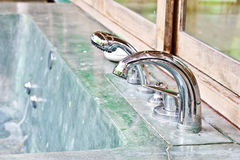 Outdoor jacuzzi bathtub control set. Outdoor jacuzzi bathtub water control valve set Stock Images