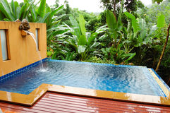 Outdoor jacuzzi at the luxury villa Royalty Free Stock Photo