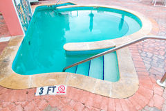 Outdoor jacuzzi pool Stock Photography