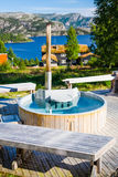Outdoor jacuzzi Stock Photo