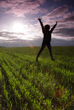 Outdoor jump Stock Photography