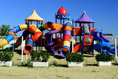 Outdoor Kids Play Ground area Royalty Free Stock Photo