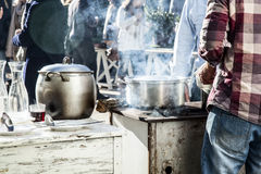 Outdoor kitchen Stock Photos