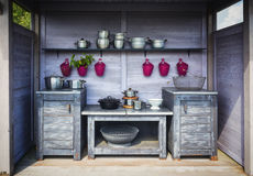 Outdoor kitchen. Royalty Free Stock Photography