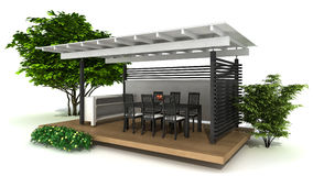 Outdoor kitchen Stock Images
