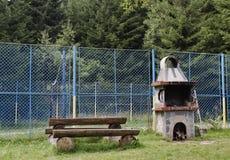 The outdoor kitchen in Vitosha mountain Stock Photos